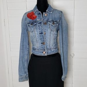 American Eagle denim jacket size xs